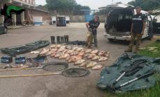 Fauna ittica vittima di trappole da bracconaggio