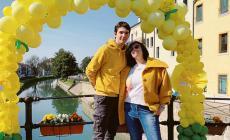 La città si tinge di giallo per due giorni per rendere omaggio a tutte le donne