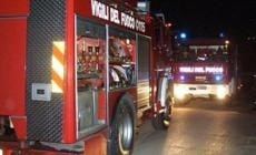 Cede l'argine: intervento dei pompieri