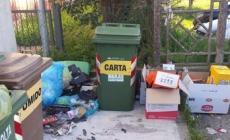Cartoni, sacchetti e rifiuti <br/> dietro al Centro visitatori