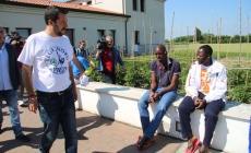 "Salvini, blitz tra i profughi<br/>""No all'Africa in Polesine"""
