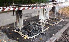 Incendio ad un cassonetto in Commenda