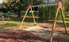 Villa Giglioli, parco per tutte le età<br/> nuovi giochi per i bambini