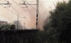 Brucia una casa cantoniera occupata da sbandati
