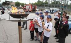 La fiaccola olimpica arriva a Rovigo
