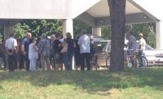 Tanta gente ai funerali di Giorgio Mazzon