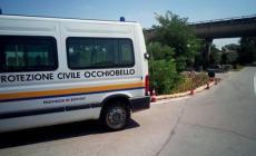 Strada a rischio frana, interviene la Protezione civile