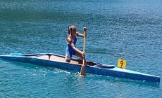 Gruppo Polesine in evidenza sul lago di Ledro