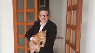 Il gatto Rossini in visita a Palazzo Nodari