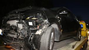 Frontale tremendo, auto scagliata via, ribaltata distrutta: Boara paralizzata