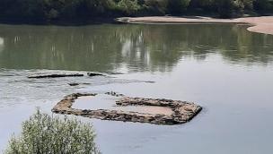 Adige in secca, riaffiora la fortezza