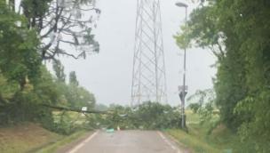 Forte vento e pioggia: sottopassi allagati e rami sulle strade