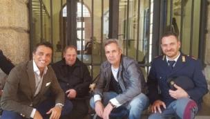"""Il senzatetto Giulio """"star"""" della tv"""
