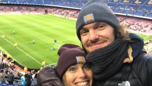 Due sposi rodigini al Camp Nou