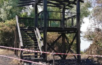 Una raccolta fondi per la torretta bruciata