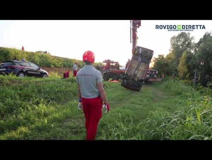 Auto ripescata dal fiume, rubata e gettata in Adige