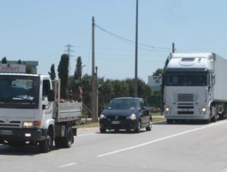 traffico. romea, incidente