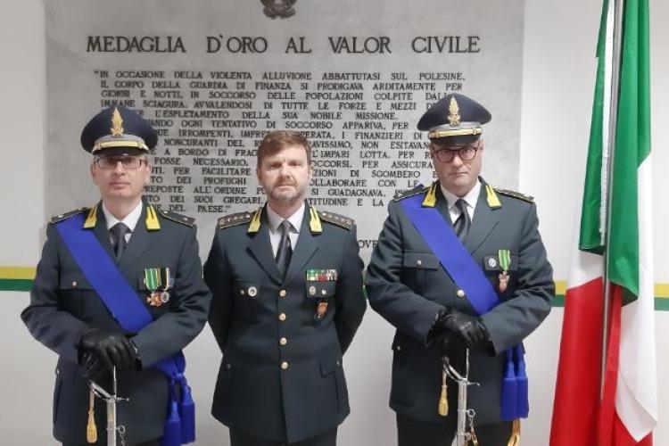 Promozione al grado di ufficiale dei luogotenenti Casula e Ferrara
